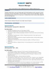How to write a cv for a job in 7 easy steps: Research Manager Resume Samples Qwikresume