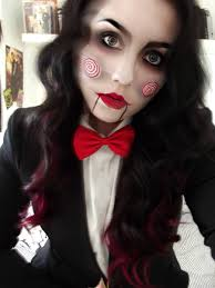 creepy jigsaw make up cosplay by kikimj deviantart on deviantart