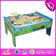 china 2016 educational table train set whole wooden toys wooden train railway set toy 88 s wooden train set with table w04d006 china train toy