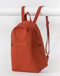 baggu zip backpack rust