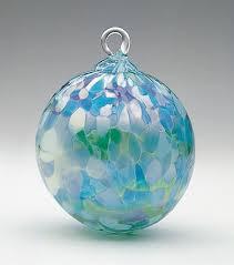 mt st helens volcanic ash hand blown art glass ornament jade mosaic agate chip 3 diameter pacific northwest