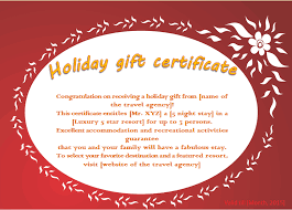 Holiday Gift Certificates Flaming Flower Holiday Gift Certificate Template Gift