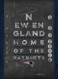Amazon Com New England Patriots Wall Poster Eye Chart