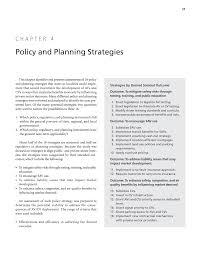 Chapter 4 Policy And Planning Strategies Advancing