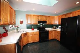 kitchen color ideas with oak cabinets and black appliances.  Ideas Large Size Of Kitchen Cabinetskitchen Color Ideas With Oak Cabinets  And Black Appliances In