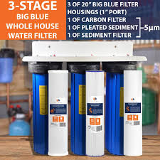 Aquaboon 3 Stage 20 Whole House Filter System with Carbon Block