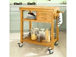 Meuble Rangement Cuisine Roulant En Bambou Chariot De Cuisine