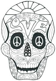 Coloring Pages Of Sugar Skulls Coloring Pages Sugar Skulls Free Day