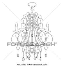 clip art er chandelier fotosearch search clipart ilration posters drawings