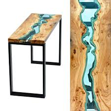 nature inspired furniture. Art Cool Lake Design Inspiration Creative Artwork Nature Nice River Glass Furniture Wood Table Topography Inspired