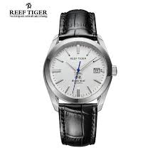 aliexpress com buy reef tiger rt dress watches date reef tiger rt dress watches date business automatic watches for men stainless steel leather