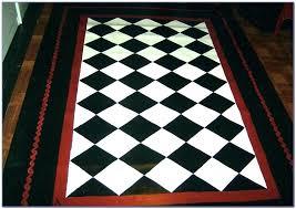 black and white runner rug black white checd rug and outdoor whit black and white checd