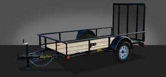 single axle trailers big tex trailers 29sa economy single axle utility trailer