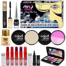 color diva beauty makeup bo skin diva triple action kit set of 13 make up kits home18