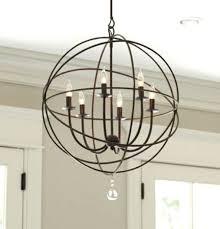 orb light chandelier 6 4