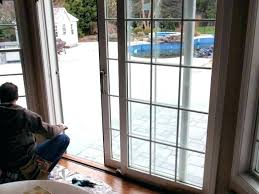 sliding door glass repair cost replacement doors medium size of to replace with french how