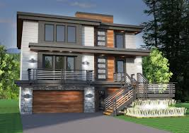 Modern Sloping House Plans Trends And Gorgeous Glass Elevator ...