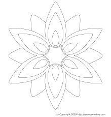 Coloring Pages Of Flowers Roses Flower