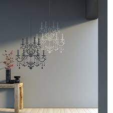 wall stencil crystal chandelier template for diy decor better than decals