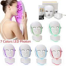 Led Light For Skin Details About 7 Colors Led Light Photon Face Mask Massage Skin Anti Wrinkle Beauty Machine New