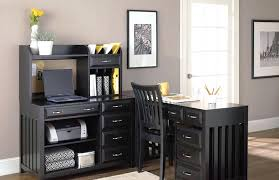 shaped home office. Grey Shaped Home Office
