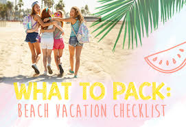 Vacation Checklist What To Pack Beach Vacation Checklist Clairesblog
