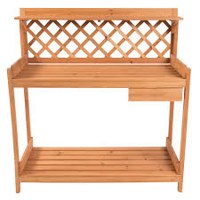 best choice s potting bench outdoor garden work bench station planting solid wood construction com