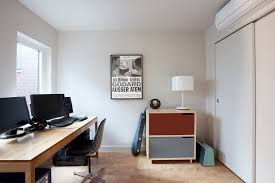 modern home office modern home office modern home office idea in chicago with gray walls chicago home office
