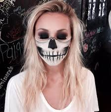 half skull lower face y skeleton makeup ideas you should wear this