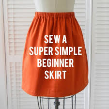 Simple Skirt Pattern Beauteous How To Make An Elastic Waist Skirt Pattern Beginner Skirt Sewing
