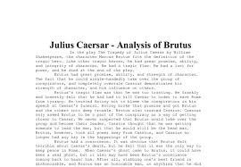 the tragedy of julius caesar essay julius caesar quotes shakespeare