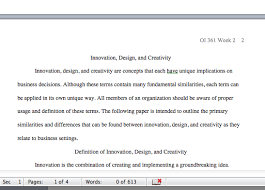 oi week assignment word paper on innovation design  oi 361 week 1 assignment 700 word paper on innovation design and creativity