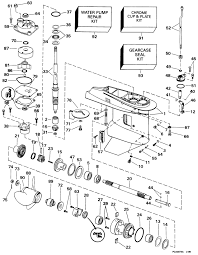 mercury outboard lower unit diagram diagram evinrude gearcase parts for 1998 50hp e50tslecc outboard motor