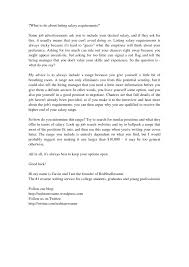 Mental Health Resume Cover Letter Salary Expectations Daycare