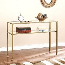 gold entry table hallway console table beautiful gold metal and glass console table