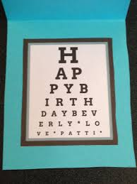 Dot Eye Chart Eye Chart Birthday Message Its A Custom Happy Birthday