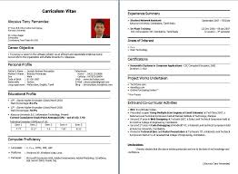 Resume Format For Tcs 15072 Peppapp