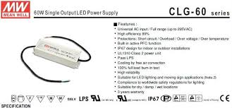 mean well 60w 12v ul ce lps selv ip67 led waterproof driver,clg 60 Mean Well Lpv 60 12 Wiring Diagram clg 60 top jpg