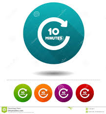 Timer 10 Minutes 10 Minutes Rotation Icon Timer Symbol Sign Web Button Stock