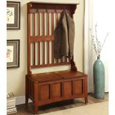 Hall Tree Coat Hat Rack Simple WOODEN HALL TREE Storage Bench Coat Hat Rack Wood Entryway Furniture
