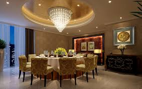 lighting design for dining room with round table