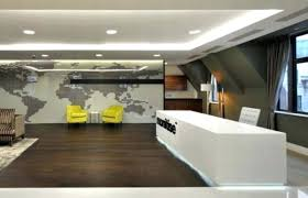 office area design. Reception Area Design Contemporary White Desk With Stunning Led Lighting For Modern Office .