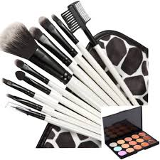 blackwhite print makeup brushes and case color contour creme colcealer palette cosmet jpg 960x960