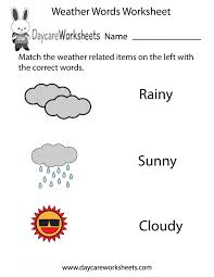 Weather Worksheets For Kindergarten Math Printable Clothes ...