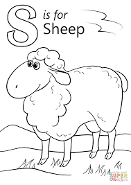 Small Picture Coloring Pages Letter S Is For Sheep Coloring Page Free Printable