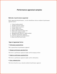 Employees Performance Appraisal Form Beautiful Performance Appraisal ...