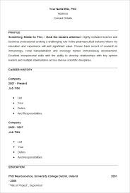 PHP Basic Resume Template