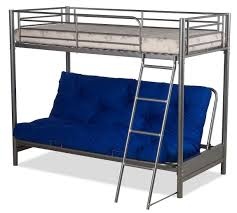 metal bunk bed futon. FUTON BUNK BED (COMPLETE WITH MATTRESSES) IN SILVER METAL FINISH: Amazon.co.uk: Kitchen \u0026 Home Metal Bunk Bed Futon M