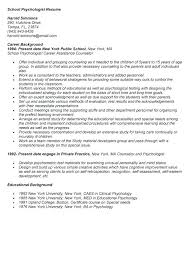Sample Graduate School Resume Psychology Resume Template Sample Graduate School Application 69