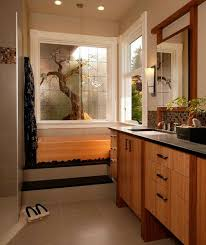 Bamboo Vanity Bathroom Fascinating Bathrooms Stunning Asian Bathroom With Wood Vanity Cabinet Also